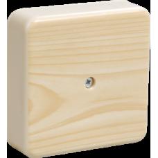 Коробка КМ41212-04 распаячная для о/п 75х75х20мм сосна (с контактной группой)