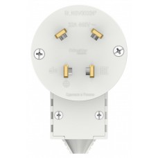 Вилка Бланка 3P+N 32А для электроплит белый