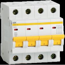 Автомат 4П 40А хар-ка C 4,5кА ВА47-29 IEK  MVA20-4-040-C