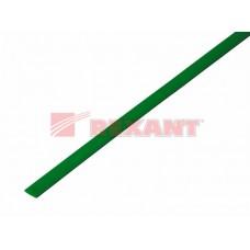 Трубка термоусадочная ТУТ 4/2 зеленая 1м Рексант