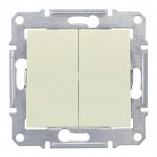 Выключатель Седна 2СП б/п 10А IP20 механизм бежевый  SDN0300147