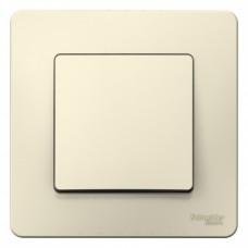Выключатель Бланка 1СП б/п 10А IP20 в сборе молочный