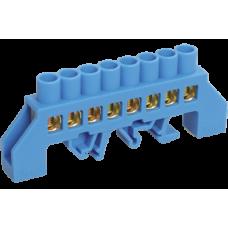 Шина N ноль в комбинированном дин-изоляторе Стойка ШНИ-8х12-8-КС-С IEK
