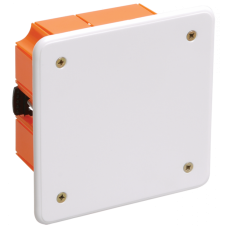 Коробка КМ41022 распаячная 92х92х45мм для полых стен с саморезами пластиковые лапки с крышкой ИЭК