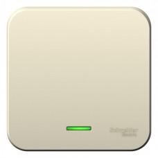Выключатель Бланка 1ОП с/п 10А IP20 в сборе молочный  BLNVA101112
