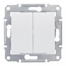Выключатель Седна 2СП б/п 10А IP20 механизм белый  SDN0300121