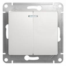 Выключатель Глосса 2СП с/п 10А IP20 механизм белый  GSL000153