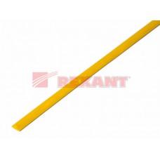 Трубка термоусадочная ТУТ 4/2 желтая 1м Рексант