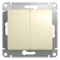 Выключатель Глосса 2СП б/п 10А IP20 механизм бежевый  GSL000251