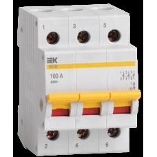 Выключатель нагрузки ВН-32 3П 100А ИЭК  MNV10-3-100