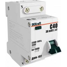 Дифф автомат 1П+N 25А хар-ка C 4,5кА 30мА AC ДИФ-102 DEKraft Schneider Electric  16005DEK