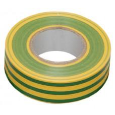 Изолента 0,13х15 мм желто-зеленая 20 метров ИЭК  UIZ-13-10-K52