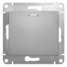Выключатель Глосса 1СП с/п 10А IP20 механизм алюминий  GSL000313