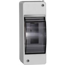 Корпус пластиковый КМПн 2/2 IP31 для 2 модульных автоматов наружной установки с прозрачной крышкой IEK