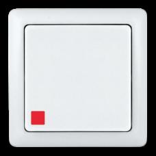 Выключатель Хит 1ОП с/п 6А IP20 в сборе белый
