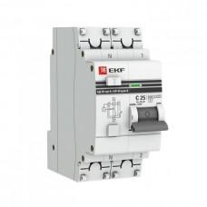 Дифф автомат 1П+N 25А хар-ка C 4,5кА 30мА АС электронный АД-32 PROxima EKF  DA32-25-30-pro