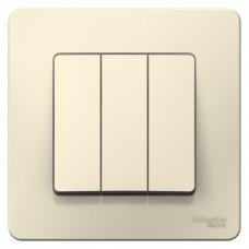 Выключатель Бланка 3СП б/п 10А IP20 в сборе молочный