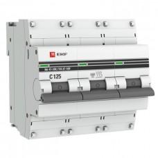 Автомат 3П 25А хар-ка C 10кА ВА47-100 PROxima EKF  mcb47100-3-25C-pro