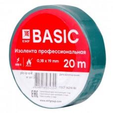 Изолента ПВХ 0,18х19мм 20м зеленая PROxima EKF  plc-iz-a-g