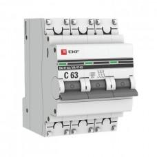 Автомат 3П 25А хар-ка C 6кА ВА47-63 PROxima EKF  mcb4763-6-3-25C-pro
