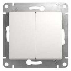 Выключатель Глосса 2СП б/п 10А IP20 механизм белый  GSL000151