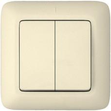 Выключатель Прима 2СП б/п 10А IP20 в сборе белый  VS5U-218-B