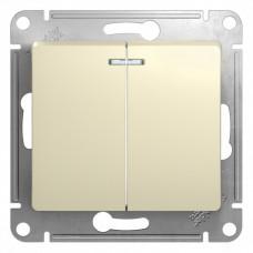 Выключатель Глосса 2СП с/п 10А IP20 механизм бежевый  GSL000253