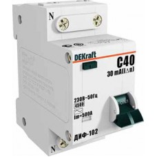 Дифф автомат 1П+N 32А хар-ка C 4,5кА 30мА AC ДИФ-102 DEKraft Schneider Electric  16006DEK