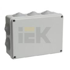 Коробка КМ41243 распаячная для о/п 190х140х70мм IP44 (RAL7035, 10вводов)