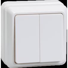 Выключатель Октава 2ОП б/п 10А IP20 в сборе ВС20-2-0-ОБ белый  EVO20-K01-10-DC