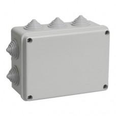 Коробка КМ41242 распаячная для о/п 150х110х70мм IP55 (RAL7035, 10вводов)ИЭК