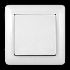 Выключатель Хит 1СП б/п 6А IP20 в сборе белый  VS16-133-B