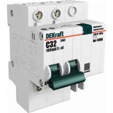 Дифф автомат 2П 16А хар-ка C 4,5кА 30мА AC ДИФ-101 DEKraft Schneider Electric