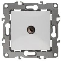 Розетка Эра12 ТВ 1СП оконечная механизм 12-3101-01 белый