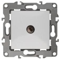 Розетка Эра12 ТВ 1СП оконечная механизм 12-3101-01 белый  Б0014705