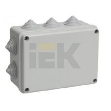 Коробка КМ41241 распаячная для о/п 150х110х70мм IP44 (RAL7035, 10вводов)