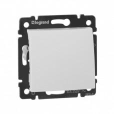 Выключатель Валена 1СП б/п 10А IP31 механизм кнопочный белый