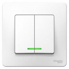 Выключатель Бланка 2СП с/п 10А IP20 в сборе белый  BLNVS010511