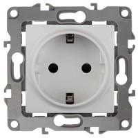 Розетка Эра12 1СП с/з с/шт 16А IP20 механизм 12-2102-01 белый