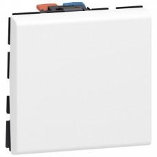 Выключатель Мозаик 1СП 2М б/п 10А IP20 механизм белый  77010
