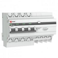 Дифф автомат 4П 16А хар-ка C 4,5кА 30мА AC электронный АД-4 PROxima EKF  DA4-16-30-pro