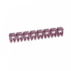"""Маркер кабельный 0,5-1,5мм символ """"7"""" фиолетовый CAB 3 (1200шт/упак) Legrand"""