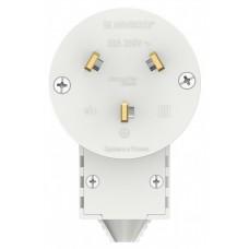 Вилка Бланка 2P+N 32А для электроплит белый