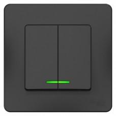 Выключатель Бланка 2СП с/п 10А IP20 в сборе антрацит