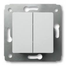 Выключатель Карива 2СП б/п 10А IP20 механизм белый  773658