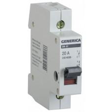 Выключатель нагрузки ВН-32 1П 63А Generica ИЭК  MNV15-1-063
