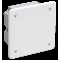 Коробка КМ41001 распаячная для тв.стен 92х92х45мм (с саморезами, с крышкой)