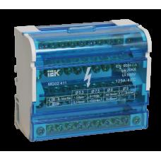 Шины 3L+PEN на дин-рейку в корпусе (кросс-модуль) ШНК 4х11 IEK
