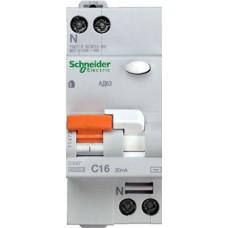 Дифф автомат 1П+N 16А хар-ка C 4,5кА 30мА АС АД63 DOMOVOY Schneider Electric