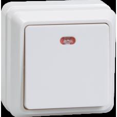 Выключатель Октава 1ОП с/п 10А IP20 в сборе ВС20-1-1-ОБ белый  EVO11-K01-10-DC